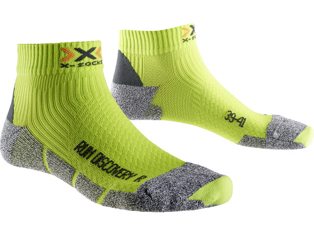 X-Socks Run Discovery - Calcetines Running Hombre - gris/verde